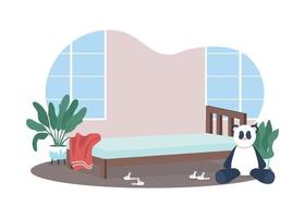 kinderen slaapkamer 2d vector webbanner, poster