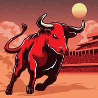 Bull Illustratie vector