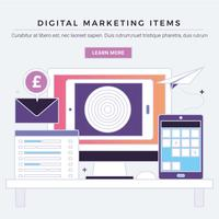 vector digitale marketing items