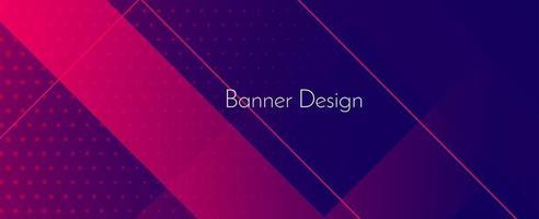 abstracte geometrische paarse moderne stijlvolle gladde donkere banner achtergrond vector
