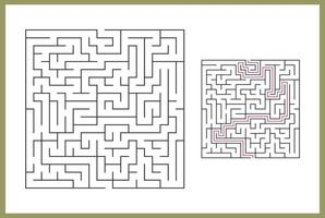 doolhof voor kinderen. abstract vierkant doolhof. vector