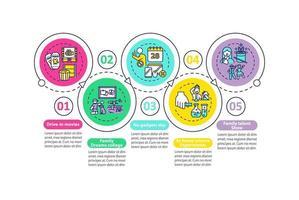 familie leuke ideeën vector infographic sjabloon