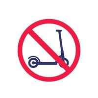 geen kick scooter stopbord