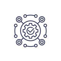 software, kader en automatisering lijn pictogram vector
