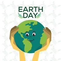 wereld aarde dag concept met globe vector