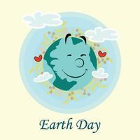 aarde dag concept en achtergrond vector