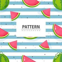 naadloze watermeloen fruit patroon ontwerp vector