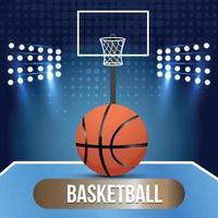 basketbal stadion achtergrond vector