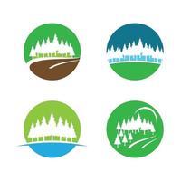 dennenboom logo afbeeldingen illustratie