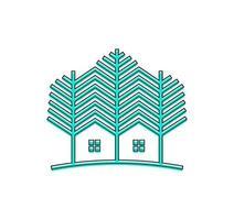 groen hout inwoner vector