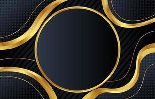 abstracte zwarte en gouden achtergrond vector