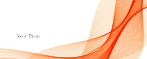 abstracte rood oranje moderne decoratieve stijlvolle golf banner achtergrond vector