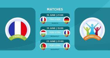 wedstrijd van het nationale team van Frankrijk vector