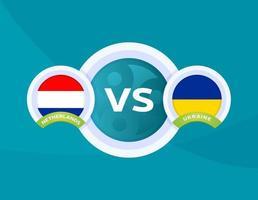 nederland vs oekraïne voetbal vector