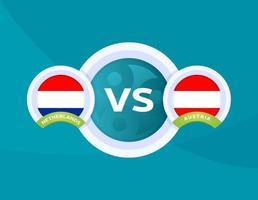 nederland vs oostenrijk voetbal vector