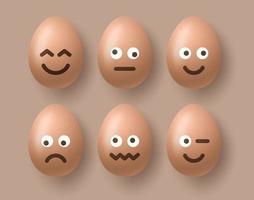 Pasen emoji-eierset