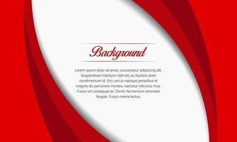 rode curven presentatie achtergrond met halftoon vector
