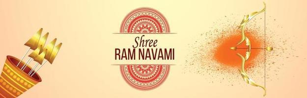 craetive illustratie van lord rama voor ram navami
