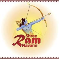 creatieve illustratie van lord rama voor ram navami
