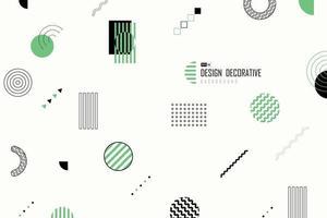 abstracte geometrische memphis-ontwerp decoratieve kunstwerkachtergrond. illustratie vector eps10