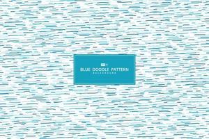 abstract blauw patroon van hand getrokken het ontwerp decoratieve achtergrond van het krabbelpatroon. illustratie vector eps10