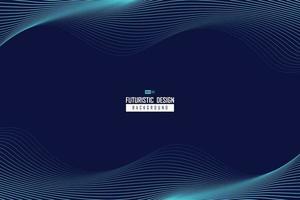 abstract golvend blauw lijnontwerp van de bewegingsachtergrond van het technologiepatroon. illustratie vector eps10