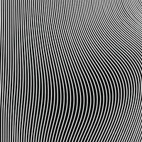 abstract zwart-wit golvend lijnpatroon van op-art achtergrond. illustratie vector eps10