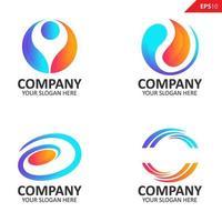 verzameling kleurrijke eerste o brief logo ontwerpsjabloon vector