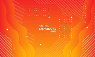 abstracte oranje vloeibare kleurenachtergrond. golvende geometrische achtergrond. dynamisch gestructureerd geometrisch elementontwerp. vector