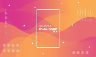roze en oranje vloeibare kleurenachtergrond. golvende geometrische achtergrond. dynamisch gestructureerd geometrisch elementontwerp. vector