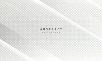 luxe en moderne conceptentextuur met zilveren glitters stippen elementdecoratie. witte abstracte achtergrond met overlappende lagen van papiervormen. vector