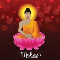gelukkige mahavir jayanti viering achtergrond vector