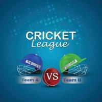 cricket leagur-kampioenschap met cricket-helm vector