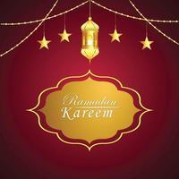 plat ontwerpconcept van ramadan kareem en achtergrond islamitisch festival vector