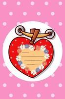 wenskaart Valentijnsdag cartoon afbeelding vector