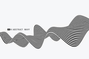 abstracte zwart-witte minimale streeplijn van de achtergrond van de netwerkdecoratie. illustratie vector eps10