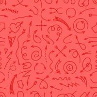 verschillende eenvoudige pijlen rode naadloze achtergrond