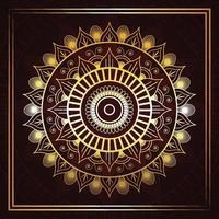 islamitische gouden luxe mandala achtergrond vector