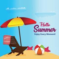 zomervakantie concept achtergrond vector
