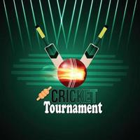 cricket toernooi achtergrond met stadion achtergrond vector