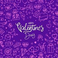 Valentijnsdag banner met belettering inscriptie
