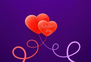 fijne Valentijnsdag. wenskaartsjabloon