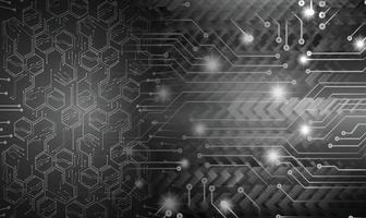 cyber circuit toekomstige technologie concept achtergrond vector