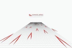 abstract zwart golvend patroonontwerp van minimaal concept met de rode achtergrond van de elementendecoratie. illustratie vector eps10