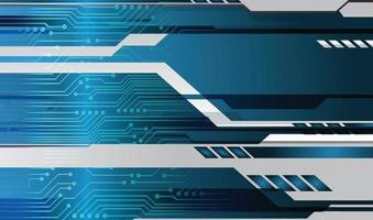 blauwe cyber circuit toekomstige technologie concept achtergrond vector