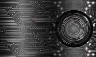 eye cyber circuit toekomstige technologie concept achtergrond vector