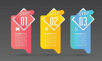 moderne tekstvaksjabloon, banner infographics vector