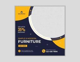 meubels sociale media plaatsen websjabloon voor spandoek vector