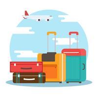 Bagage vectorillustratie vector