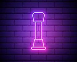 drijfwerkbediening overzicht pictogram in neon stijl. elementen van auto reparatie illustratie in neon stijlicoon. tekens en symbolen kunnen worden gebruikt voor web, logo, mobiele app, ui, ux geïsoleerd op bakstenen muur.